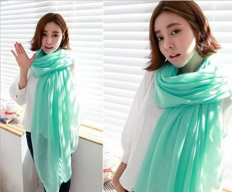 1 1 Plain Colors Viscose Scarf Wholesale for Spring - Click Image to Close